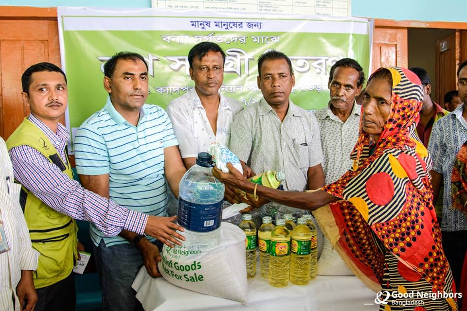 Relief program for flood affected People (Moulvibazar)