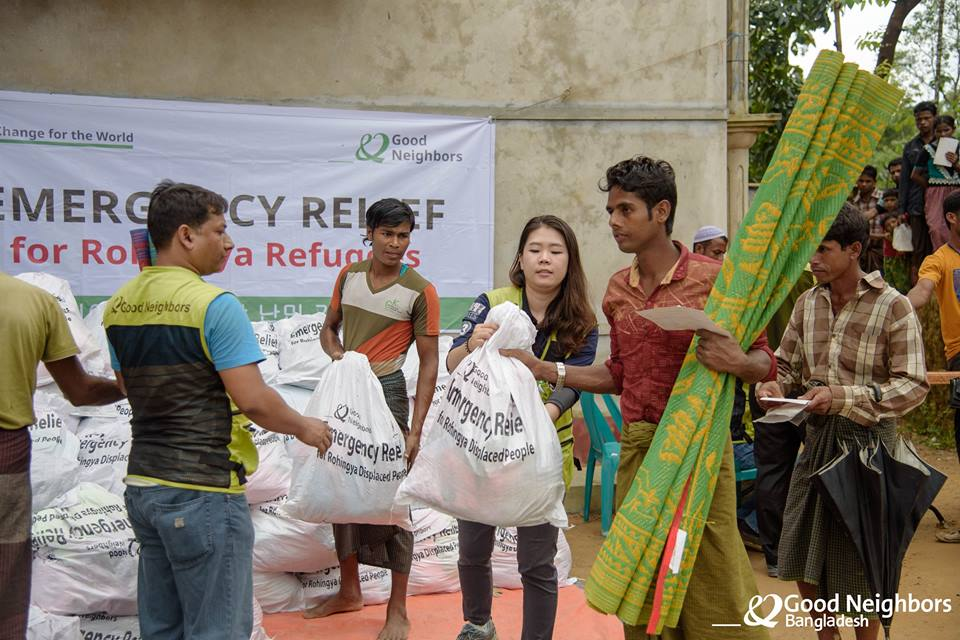 Relief Distribution for the Rohingya Refugees